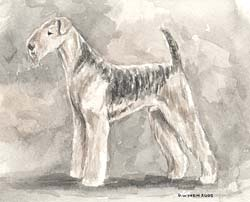 Airedale Monochrome Painting