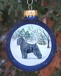 Large glass ornament - Bouvier Des Flandres