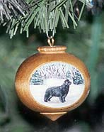 Turned Hardwood Ornament - Newfoundland