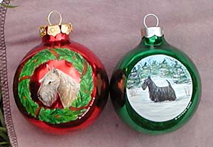 Medium glass ornaments - Scottish Terriers