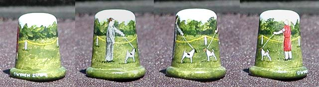 Smooth Fox Terrier Thimble