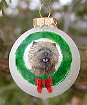 Small glass ornament - Cairn Terrier
