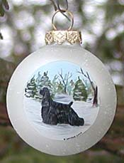 Small glass ornament - American Cocker Spaniel