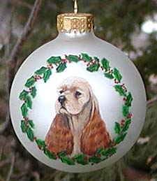 Large glass ornament - American Cocker Spaniel