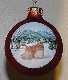 Large glass ornaments - American Cocker Spaniel