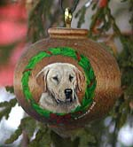 Turned Hardwood Ornament - Labrador Retriever
