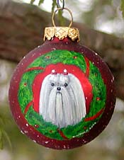 Small glass ornament - Maltese