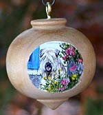 Turned Hardwood Ornament - Soft Coated Wheaten Terrier