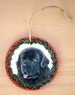 Medium Flat Hardwood Ornament - Newfoundland